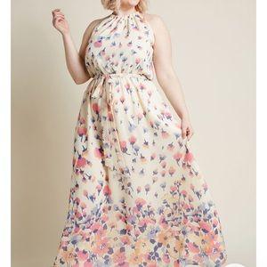 Elegant floral ModCloth dress size L